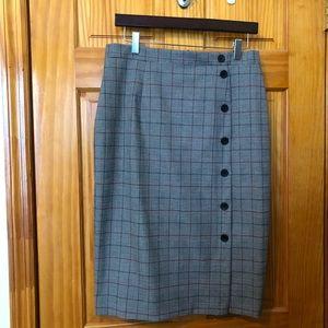 H&M check pencil skirt. Nwot.